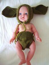 Espacio verde de punto hombre pañales/Pantalones/Cubierta de pañal, Bonnet Sombrero Foto Prop recién nacido
