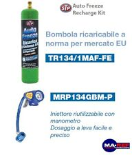 KIT COMPLET CHARGE CLIMATISATION AUTOMOBILE STP VOITURE GEL R134A