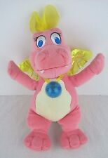 Dragon Tales Cassie Plush Pink Talking Light Up Jewel Badge Fisher Price Works