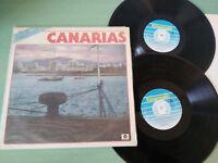 """CANARIAS CANCIONES FOLKLORE ISLAS GUANCHE 1987 - 2 X LP VINILO 12"""" VG/VG"""