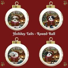Christmas Stocking Hung Dog Cat Round Ball Christmas Tree Ornament Gift