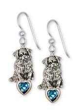 Tibetan Spaniel Earrings Handmade Sterling Silver Dog Jewelry Ts3-Se