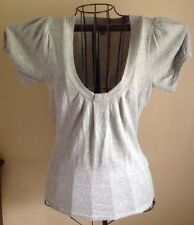 Women's GAP Size S Light Gray Rib Knit Short Sleeve Shirt 100% Cotton  EUC!