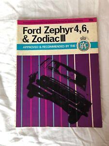 Ford Zephyr 4,6 & Zodiac111 Owners Workshop Manual