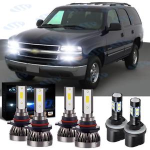 For Chevy Tahoe 2001-2006 6x Combo 9005 9006 LED Headlight Hi/Lo + 880 Fog Light