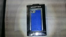 ADOPTED Leather Wrap Case for Apple iPhone SE 5s 5 Royal Blue/Silver APH11240