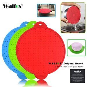 WALFOS 3 In 1 Pot Splatter Screen Guard Kitchen Spill Strainer Trivet Pot Lid