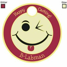 Pathtag  5804 -  Smiley  Face  -geocaching/geocoin *Retired- Original Back*