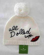 7c45b1fd62fcf NWT Women s Kate Spade New York Cream All Dolled Up Beanie Pom Pom Hat NEW   88