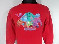 Monsters Inc Youth Size Large Red Sweatshirt Disney Store Original 2001