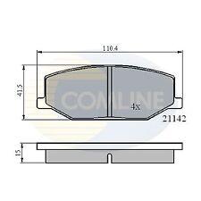 NUOVO SUZUKI SJ413 1.3 15mm Thick genuino COMLINE FRENO ANTERIORE PADS SET