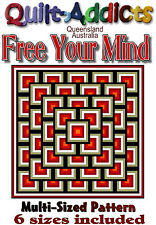 FREE YOUR MIND - MULTI SIZED Quilt-Addicts Patterns