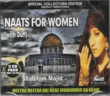 SHABNAM MAJID - NAATS FOR WOMEN(with duff) MEETHA meetha HAI MERE - 3 CDs SET