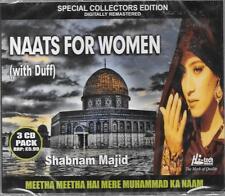 SHABNAM MAJID - NAATS FOR WOMEN(with duff) MEETHA MEETHA HAI MERE - 3 CDs SET