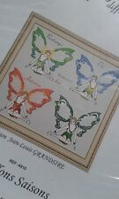 kit complet point de croix Anagram diffusion fées papillons 4 saisons