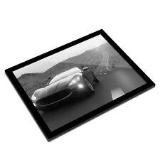 A3 Glass Frame BW - Black Sports Supercar Men's  #38464