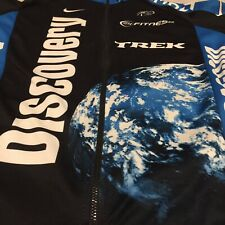 Nike Small Zip Cycling Jersey Discovery Channel Globe Planet Theme Made In Italy