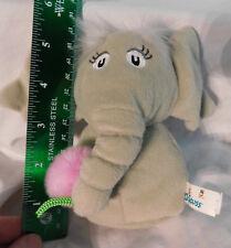 "5"" Manhattan Toy Gray Horton Hears a Who Elephant Finger Puppet Plush Dr. Seuss"