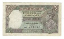 India -  Five (5) Rupees, 1937