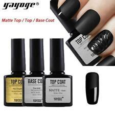UV LED Nail Gel Polish Varnish Soak Off Matte Top Base Coat YAYOGE UK STOCK