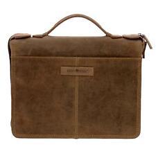 Greenburry Vintage 1788-25 Leder Aktentasche Konferenzmappe Organizer