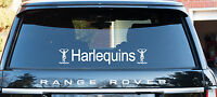 Harlequins Rugby themed decal window sticker &  logo 60cm long free P&P