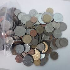 Foreign coin lot. 50 well mixed coins from around the world.