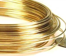 26 gauge 20ft 14k yellow Gold Filled beading crocheting wire Round dead soft