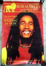 RARE AFFICHE ORIGINALE BOB MARLEY / 1977 WAINTING IN VAIN