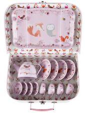 Woodland Friends Picnic Box Tea Set Pink Kids Vintage Toy Sass & Belle