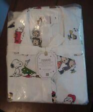 'Peanuts' Organic Flannel Pajama Set, Pottery Barn Teen, Small, Christmas Theme