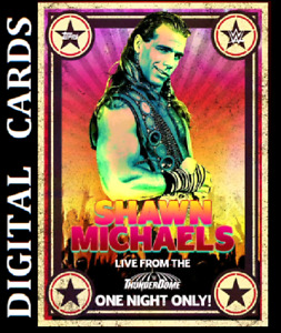 Topps SLAM WWE CONCERT POSTERS 2021 SERIES 2 [SHAWN MICHAELS MOTION CARDS]