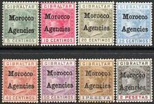 MOROCCO AGENCIES-1898-1900 Set to 2p Sg 108 some gum toning AMM V40544