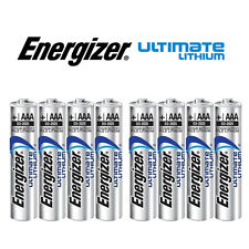 SHRINK PACK OF 8X ENERGIZER AAA 635883 ULTIMATE LITHIUM BATTERIES LR03 1.5v