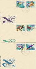 Poland FDC (Mi. 2421-26) Olympic winter games Innsbruck #3