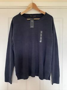Marks And Spencer Supersoft Navy Blue Sweater New Size 20