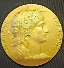 FRENCH REPUBLIC 50MM GILT SILVER SHOOTING MEDAL PRESENTED BY THE MINISTER OF WAR