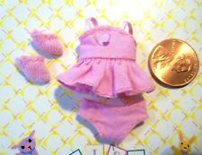 Kelly Krissy Polymer Doll Clothes *Micro Mini Teeny Tiny Itty Bitty Pink Dress*