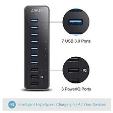 Anker 10 Port 60W Data Hub with 7 USB 3.0 Ports and 3 PowerIQ Charging Ports