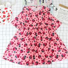 Japanese Princess Short Sleeve Dress Cute Strawberry Doll Collar Summer Dress