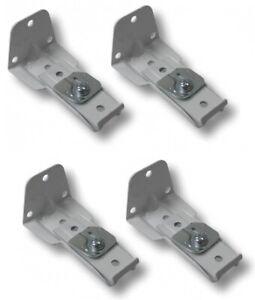 4 pc Lot: Single Rod Support Bracket for Kirsch Superfine Rod, Part # 3577.025