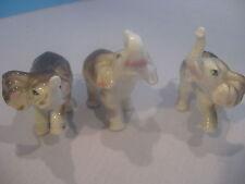 Vintage Giftcraft Porcelain Bone China Three Elephant Set