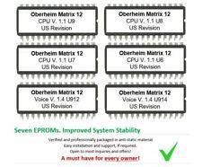 Oberheim Matrix-12 - Firmware Latest OS Upgrade EPROM set Voice 1.4 CPU 1.2