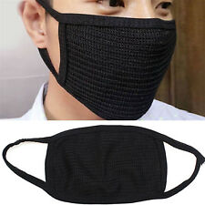 2PCS Black Health Cycling Anti-Dust Cotton Mouth Face Respirator Unisex Mask NEW