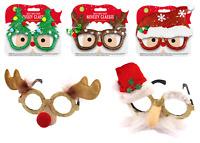 CHRISTMAS NOVELTY GLASSES Traditional Festive Xmas Accessory Party Sunglasses