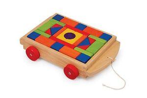"Kw 2434 Cart Wooden Blocks "" Lucas "" New"