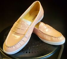 Wanted Peach Slip on Penny Loafer Platinum Flats Shoes Size 5 M