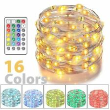 Color Changing 10m LED USB Fairy String Lights rgb silver Wire W/ 24 Key Remote