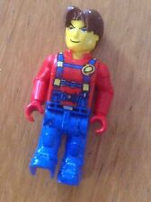 Lego Juniors minifigure JS015 Jack Stone - red jacket blue overall from set 4610