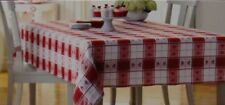 Valentine's Day Red & White with Heart Jacquard 70 in Round Tablecloth NWT
